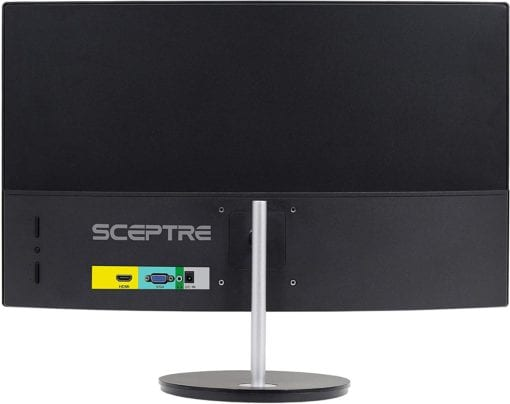 Sceptre Monitor-Curved-Back View