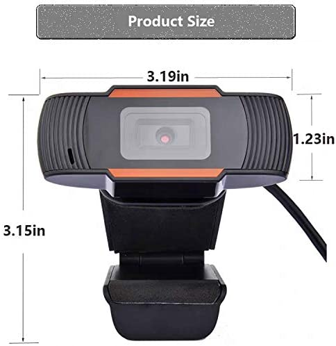 HD Webcam 1080P Streaming Web Camera with Microphones Product Size