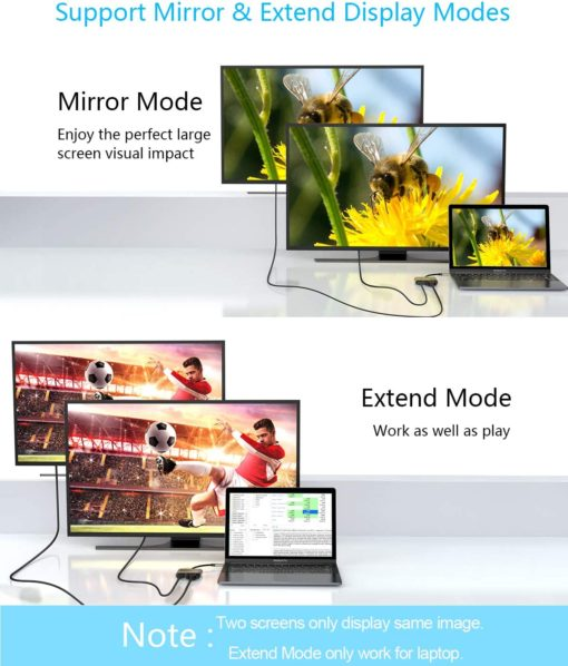 support mirror & extended display